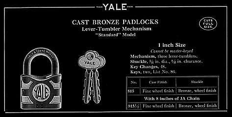 Yale Cast Bronze Padlocks bl