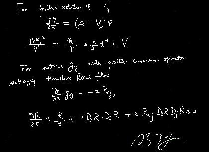 Shing-Tung Yau equation bl