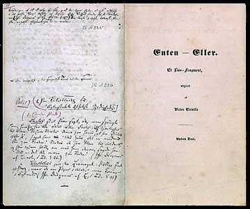 Søren Kierkegaard's own copy of the first edition of Either-Or from (1843)